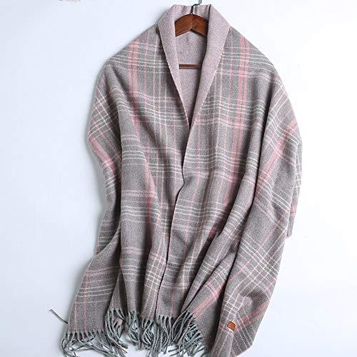 TIANPIN Modieuze herfst en winter sjaal sjaal wrap klassieke lange zachte warme kasjmier check sjaals voor vrouwen wol kwast sjaal lange steel