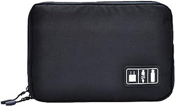 Estuche Portátil Para Auriculares Auriculares Bluetooth, 22.6 x 15.7 x 3.6cm - Negro