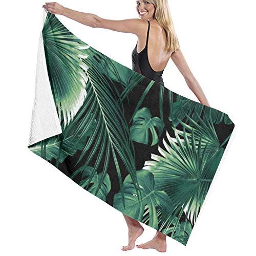 Toallas de baño tropicales de hojas de selva súper suaves de microfibra toalla de playa toalla de baño manta para viajes deportes 31.5 x 52 pulgadas