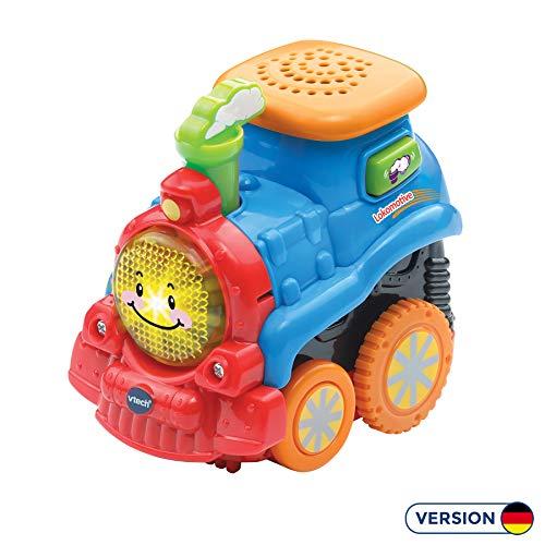 Vtech 80-515604 Tut Tut Baby Flitzer Press & Go Lokomotive Babyspielzeug, Mehrfarbig