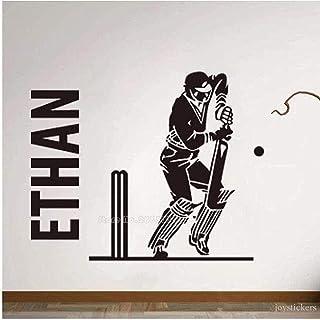 aipipl Stickers muraux Mode Décoration Murale Autocollants Sculpture Cricket Batman Sport Garçon Chambre Murale Garçon Pap...