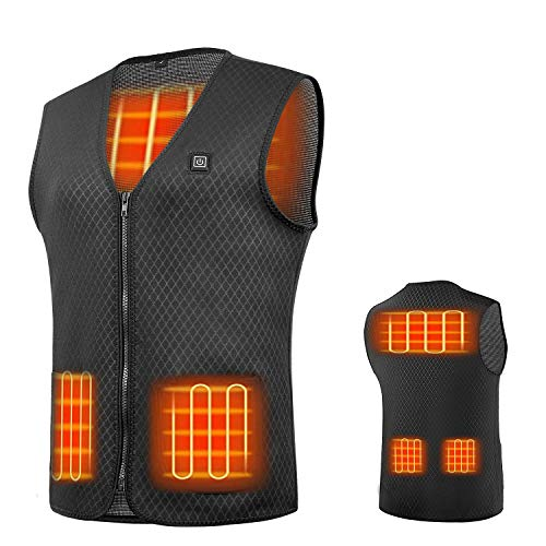 Heated Vest, USB Charging Electric Heated Jacket Washable for Women...
