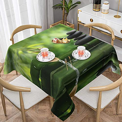 Manteles Manteles Rocks SPA Bamboo Fountain Tablecloth,Waterproof & Wrinkle Resistant Washable Fabric Table Cloth for Parties,Weddings, Kitchen,Buffet Parties and Camping.