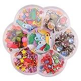 HEALLILY 1 caja de mini brads redondos, clips para bolsas de muestra, de metal, redondos, para papel, manualidades, troquelado, scrapbooking (6 – 12 mm)