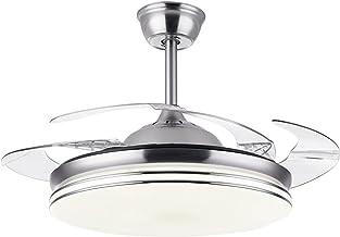 Binnenlamp, onzichtbaar, 3 bladen, LED-ventilator, plafondventilator, omzetting van frequenties, ultradun, decoratie voor ...