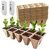 Green Thumbz Bandejas biodegradables para plántulas, bandejas ecológicas para la germinación de plántulas para Jardines, Parches de Verduras, Frutas, viveros e invernaderos (Paquete de 12)
