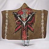 CATNEZA Manta con capucha, mullida, cómoda, vintage, con capucha, apta para invierno para adultos/mujeres/hombres, regalo blanco, 150 x 200 cm