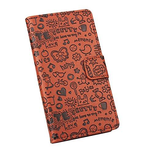 Easbuy Mit Cartoon Pattern Pu Leder Kunstleder Flip Cover Tasche Handyhülle Case Mit Karte Slot Design Hülle Etui für UMIDIGI UMI Z Z1 / UMI Z Z1 PRO Smartphone Handytasche