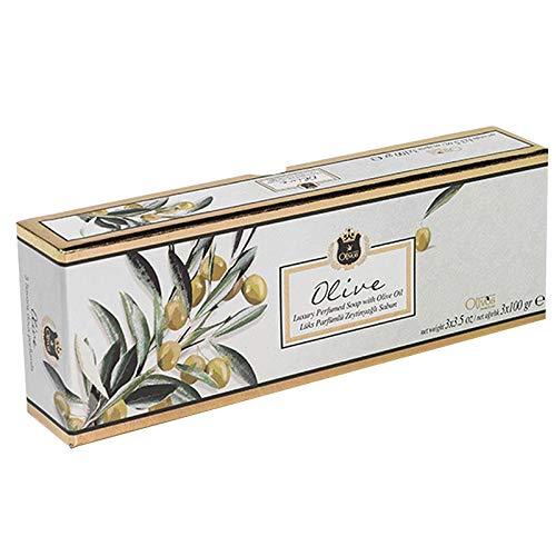 OLIVOS Lux Line olivtvål, 3 x 100 g