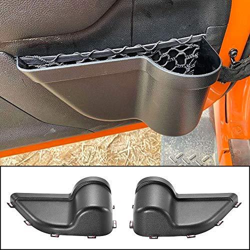 Interior Accessories JeCar Door Storage Bag Front Door Pockets Durable Oxford Storage Organizer for 2011-2018 Jeep Wrangler JK JKU 2//4 Door 2 PCS