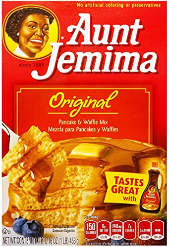 Aunt Jemima Pancake & waffle mix original preparado para