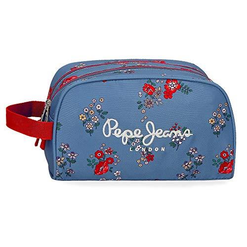 Pepe Jeans Pam, Neceser Doble Compartimento Adaptable, 26 cm, 4.99 liters, Multicolor