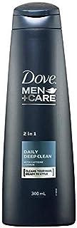 Dove Men's Hair Shampoo, Daily Deep Clean 2 in 1, 300ml