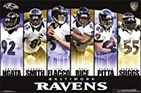 "Baltimore Ravens Six Player Collage 22"" x 34"" Poster Print"