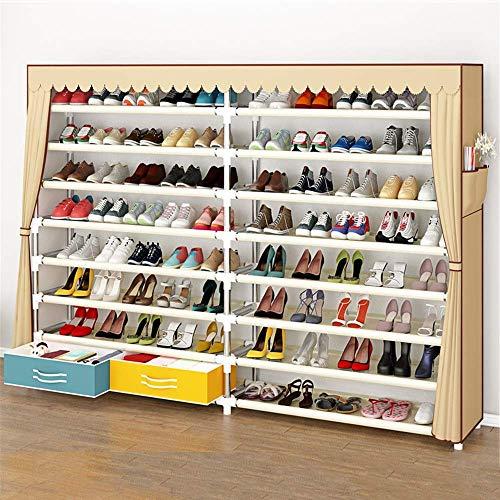 Haushaltsgeräte Tragbarer Schuh Aufbewahrungsorganisator SchuhregalHaushalt Multifunktion Staubdicht Mehrschichtiger dicker Stahlschlauch Dicker Oxford-Stoffschuhhalter Leichtgewichtig, aber stabil