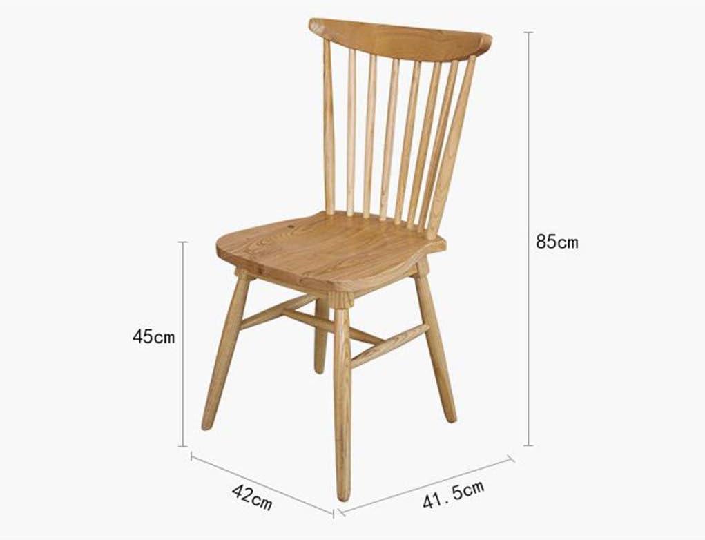 Chaise de Salle à Manger Chaise de salle à manger en bois massif européen Creative Home Chaise en bois massif Chaise de loisirs Café Tabourets de bar (Color : Green) Beige