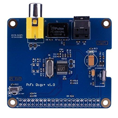 DollaTek HiFi DiGi+ Digital Sound Card I2S SPDIF Optical Fiber RCA for Raspberry Pi 3 2 Model B B+