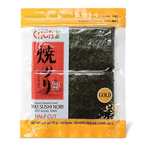 Daechun Roasted Seaweed, GIM, (100 Half Sheets), Resealable, Gold Grade, Product of Korea