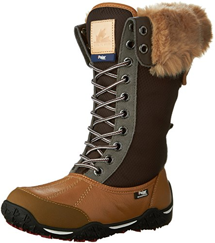 Pajar Women's Genevieve Snow Boot, Honey/Dark Brown, 39 EU/8-8.5 M US