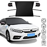 WeChip Waterproof Frost Car Cover,2021 New Windshield Snow Cover Protection for Windshield, Side/Rear Window, Mirror Cover Protector