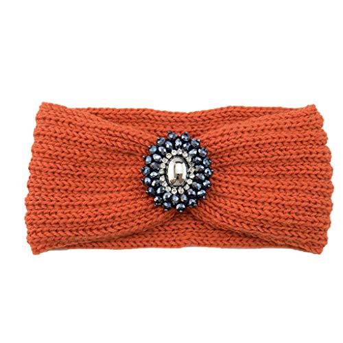 Femmes Bandeau à Tricoter Chaud Hairband Headband Bluestercool (Orange, Taille unique)