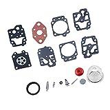 F Fityle 15pcs / Set Kit De Reparación De Carburador Carb Rebuild Gasket Set Tool para K20-WYL