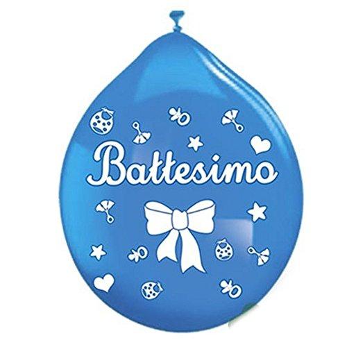 PALLONCINI BATTESIMO CELESTE 20 PZ BIG PARTY
