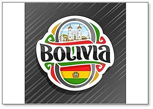 Bolivien, Kirche San Felipe Neri in Sucre mit Bolivianischer Flagge