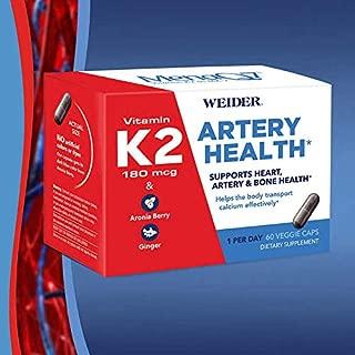 Weider Artery Health with Vitamin K2, 60 Veggie Caps