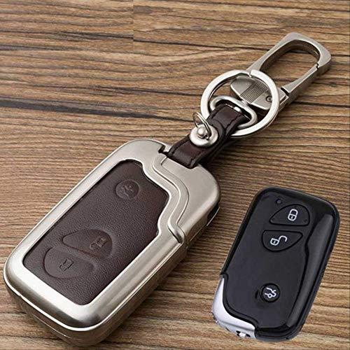 AHUIAI sleutelkast Zinklegering+lederen autosleutelhoesje voor Lexus Rx Is Es Nx Gs Gx Lx 300 330 350 200 250 270 470 460 570 400 450H Ct200H portemonnee BRON