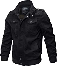 Clearance Forthery Men's Windbreaker Jacket Casual Military Jacket Button Down Outwear