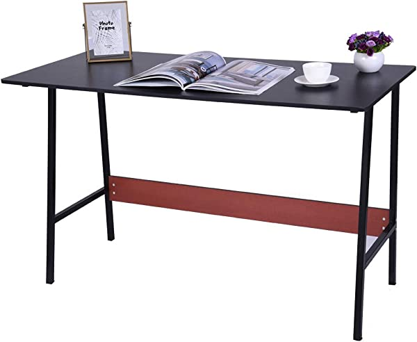Chenway Desktop Home Table Laptop Desk Home Desk Computer Desk Office Desk Study Writing Table 47 2 L X21 6 W X28 3 H Ship From USA Directly Black