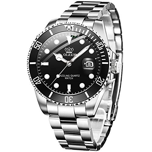 Watches Mens Luxury Stainless Steel Waterproof Quartz Watch Men Luminous Business with Date Watches for Men