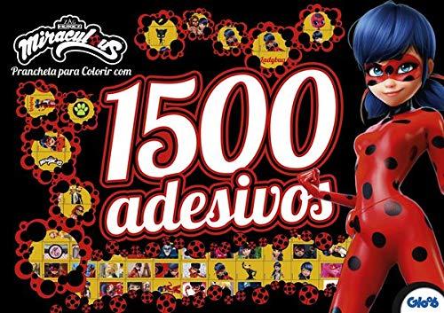 Miraculous Ladybug: Prancheta Para Colorir com 1500 Adesivos