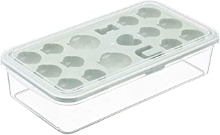 iHHAPY Ice Cube Tray,Ice Cubes Molds For Mini Fridges,Cute Grids DIY Small Ice Cube Tray Jelly Chocolate Mold Ice Cream Mould Hot (22.5x12.5x5.7cm, Green)