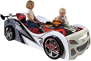 Paris Prix - Lit Enfant Voiture brap 90x200cm Blanc