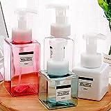 RIsxffp Leere Flasche Shampooflasche, 250 / 450ml Nachfüllbare Flasche Shampoo Lotion Duschgelseife...