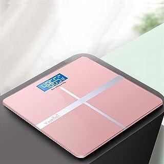 Báscula Bluetooth Profesional Báscula de Grasa Corporal Piso Antideslizante Ciencia de baño Retroiluminación electrónica Inteligente Báscula de Peso Digital Duradera (Color: 02 Gold)