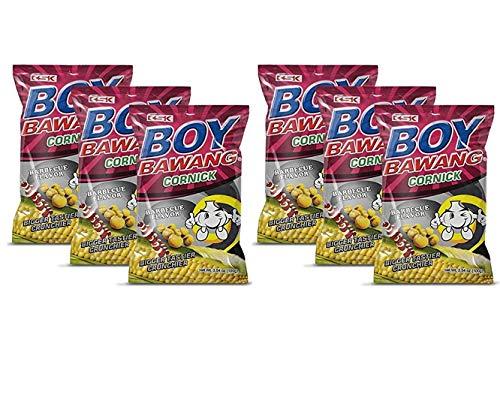 Boy Bawang Cornick, Barbeque - Crispy Tasty & Gluten-Free Corn Nuts (6 Pack, Total of 21.24oz)