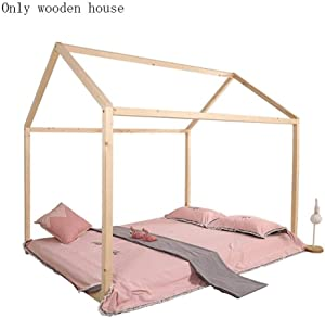 Travel Cots Handmade Floor Bed Frame Natural Wooden House Fit Toddlers Bed Baby Crib Mattress Kids Boys Girls Room Decorations