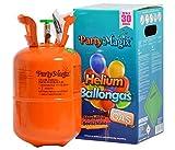 PartyMagix Helio Premium - Gas para globos, envasado en Alemania, para 30 globos, bombona de gas, para decoración de cumpleaños, fiestas, bodas, globos desechables (para aprox. 30 globos)