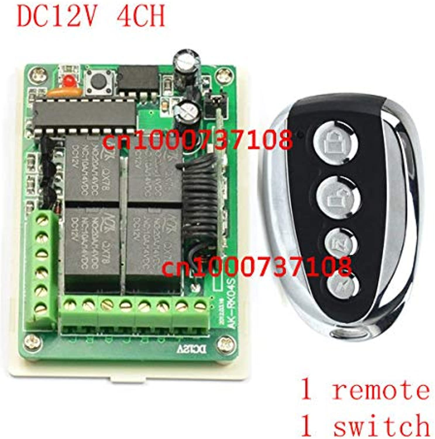 DC12V 4CH Wireless Remote Control Switch System Receiver&Transmitter Momentary Toggle Latched Output Way for Light Lamp