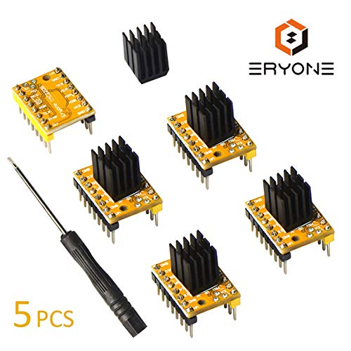TMC2208 V1.2 3D Printer Stepper Motor Driver Module, Eryone with Heat Sink Screwdriver for 3D...