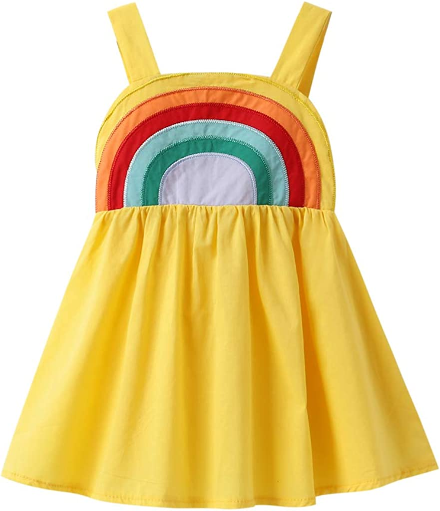 Toddler Baby Girl Rainbow Dress Little Halter Fashionable Pie Cheap mail order specialty store One