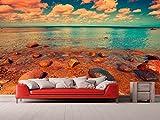 Fotomural Vinilo Pared Playa rocosa | Fotomural para Paredes | Mural | Vinilo Decorativo | Varias Medidas 400 x 300 cm | Decoración comedores, Salones, Habitaciones.