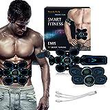 LYHD Electroestimulador Muscular Abdominales EMS, USB Recargable Portátil Estimulador Muscular Abdominales, para Abdomen Cintura Pierna Brazo
