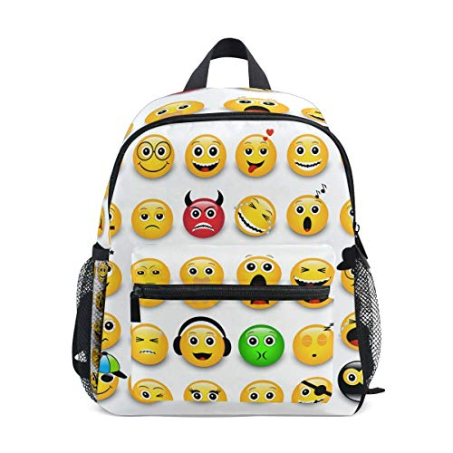 Mochila Emoticones Amarillos Emojis Mini Kids Pre-School Kindergarten Toddler Bag