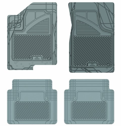 Koolatron Pants Saver Custom Fit 4 Piece All Weather Car Mat for Select Chevrolet Models (Grey)