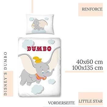 Biancheria da letto grigio 135x200 Dumbo DISNEY