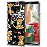 OKZone Cover Galaxy Note 9 [con Pellicola Proteggi Schermo], Custodia Gel Trasparente Morbida Silicone Sottile TPU Cover Protettiva Compatibile con Samsung Galaxy Note 9 (Orso)